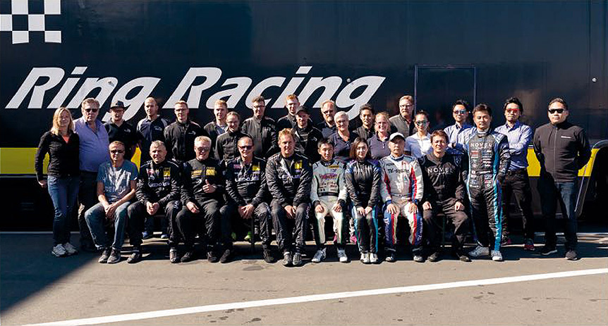 Teamfoto des Teams Ring Racing