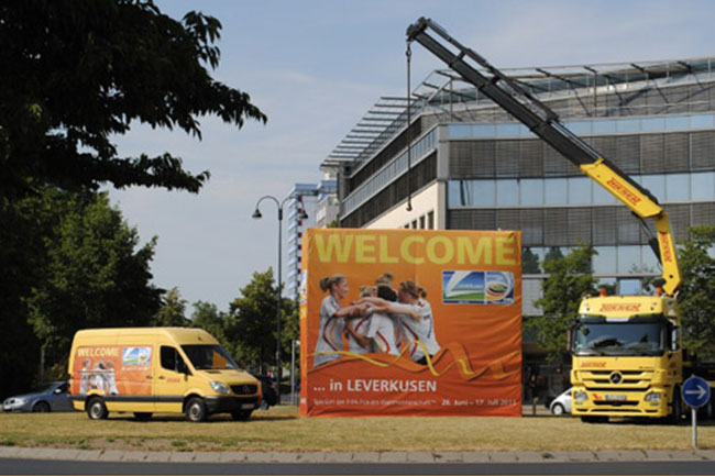 Werbecontainer Leverkusen