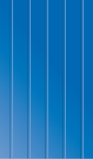 Blaue Container-Wand