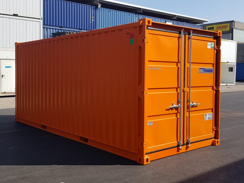 20' Lagercontainer leichtbau - Orange -